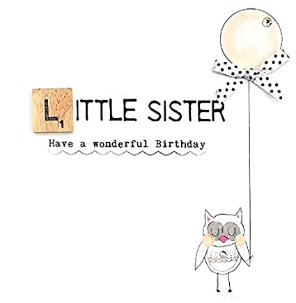 Amazon Little Sister Birthday Bexyboo Scrabbley Neon Card Greeting Cards Office Products