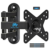 Mounting Dream MD2463-P TV Monitor Wall Mount Bracket for Most 10-26 Inch LED, LCD Flat Screen TV and Monitors, with Full Motion Swivel Articulating Arm