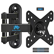 Mounting Dream Full Motion Monitor TV Wall Mount for 10-26 Inches LED, LCD TVs, Monitor Stand with Articulating Arm up to VESA 100x100mm and 33 LBS Loading MD2463