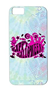 TPU Purple Happy Halloween Image Festival Pumpkin Holidays Occasions Candy Illustration Event Witch Case For Iphone 5c