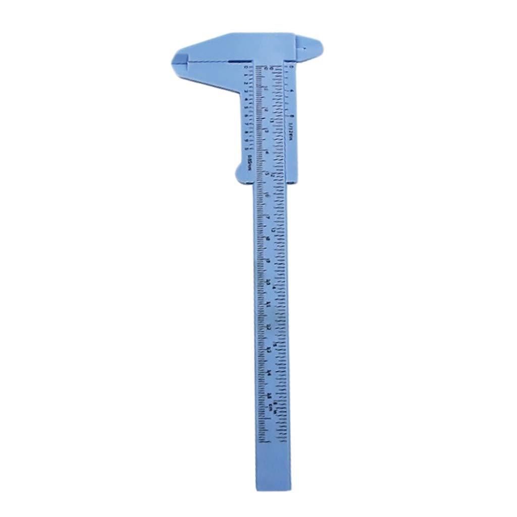 HomeMals 1Pcs 150mm mini plastic student sliding vernier caliper measurement tool home tools