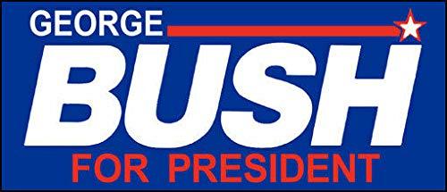 MAGNET 3x7 inch Vintage George Bush for President Bumper Sticker (hw Elect President) Magnetic vinyl bumper sticker sticks to any metal fridge, car, signs