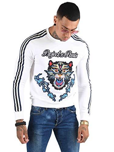 Bicolores Homme Patch Panthère Paris Bandes Project Sweat Floral Et Blanc X qcSWqAHa6