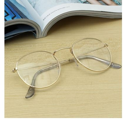 Retro Vintage Oval Transparent Golden Eyeglass Frame Steel Legs Glasses Spectacles Metal Frame by Robyshop