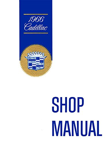 1966 Cadillac Deville Eldorado Fleetwood Shop Service Repair Manual Book Engine