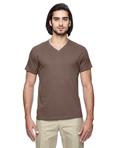 - econscious Men's Organic Cotton Short-Sleeve V-Neck T-Shirt, Large
