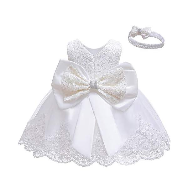 LZH Vestito da Ragazza per Bambina Abito da Battesimo da Principessa per Matrimoni Sposa Compleanno 1