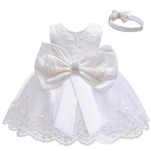 Infant Girls White Dress - 5
