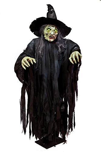 Morbid Enterprises Giant Standing Witch, Green/Black/Red, One Size (Standing Witch)