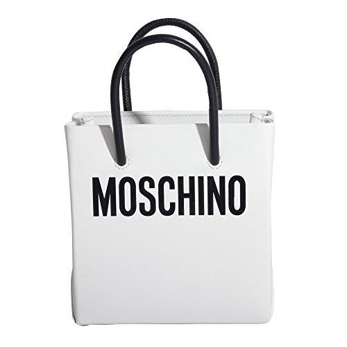 MOSCHINO FEMME A741680011001 BLANC CUIR SAC TOTE