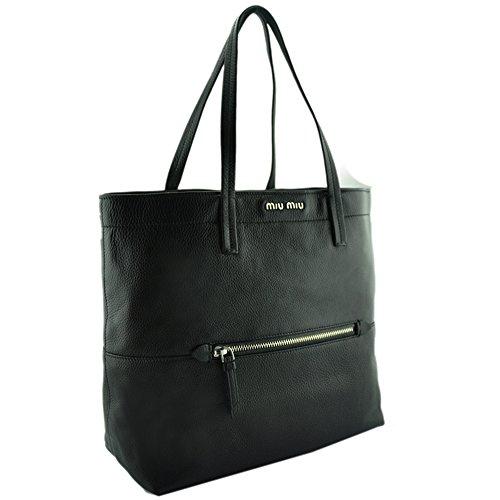 Miu Miu Vitello Diano Shopping Tote RR1934 (Miu Bags Miu Designer)