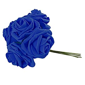 DYNWAVE 10pcs Artificial Rose Flower Branch Real Touch Wedding Flowers Arrangement Bouquet Home Room Centerpiece Decor 91