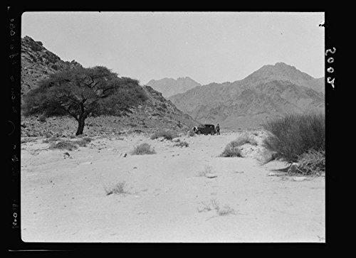 Price comparison product image 1934 Photo The Araba (Southern end of the great Jordan rift). Akaba (Elath). Gulf of Akaba and el-Kuntilla. Araba. Wadi el-Utob. The pass as it descends into the plain of Araba Location: Jordan
