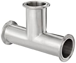 Dixon B7MP-G150 Stainless Steel 304 Sanitary Fitting, Clamp Tee, 1-1/2\
