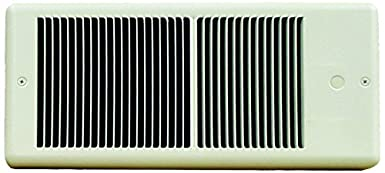 Ivory 750 W 6.25 Amps TPI E4375TRP Series 4300 Low Profile Fan Forced Wall Heater with Wall Box Standard Model Single Pole Inbuilt Thermostat