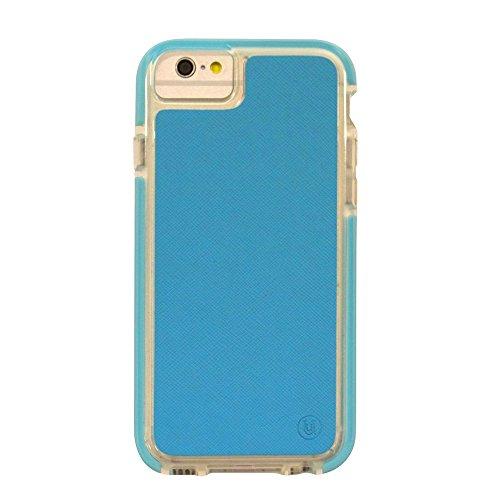 Uunique Armour Saffiano PU Leder Hard Shell Cover Schutzhülle für iPhone 6/6S–Aqua Blau