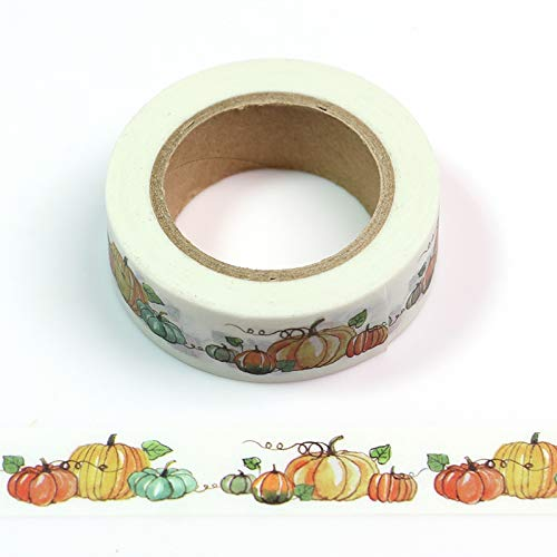 ZZJHH Tape 5pcs 1.5cm10m Kawaii Halloween Pumpkin Washi Tape Japanese Stationery Scrapbooking Tools Masking Tape,5pcs -