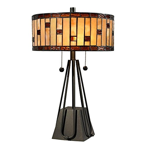 Mojave 19 in. Tiffany 2-Light Dark Bronze Table Lamp by Dale Tiffany Lamps