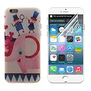 ZXSPACE The Elephant and Human Design Hard with Screen Protector Cover for iPhone 6
