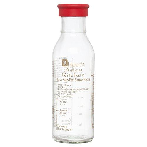 Kolder Stir-Fry Sauce Bottle, Glass, 13-Ounce, Designed by Helen Chen