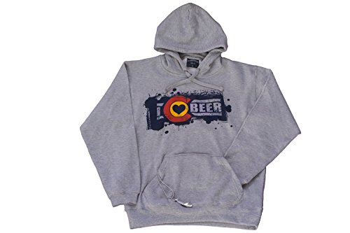 Cheap I Love Colorado Beer Hoodie with Insulated Beverage Holder and Bottle Opener (X Large, Grey)