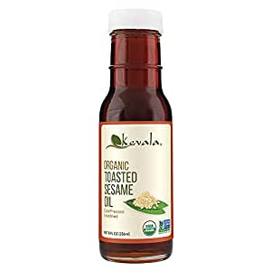 Kevala Organic Toasted Sesame Oil, 8 Ounce (Toasted Sesame oil, Organic, 8oz)