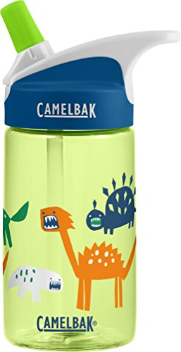 CamelBak Eddy Kids Water Bottle, Zany Dino, 0.4 L