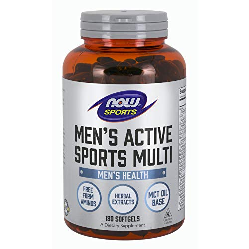 NOW Sports Nutrition, Men's Extreme Sports Multi with Free-Form Amino Acids, ZMA®, Tribulus, MCT Oil, and Herbal Extracts, 180 Softgels