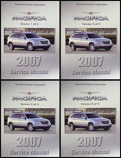 2007-chrysler-pacifica-repair-shop-manual-original-4-volume-set