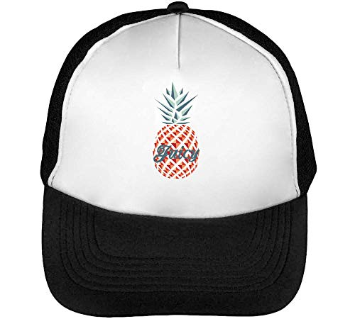 Pineapple Negro Snapback Gorras Blanco Beisbol Hombre UwZ7qUS