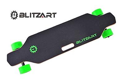 "BLITZART Huracane GT 38"" DUAL Hub-Motor 700W Electric Longboard Skateboard 3"" PU Wheels Changeable Tires by BLITZART"