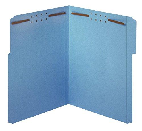 Office Depot Color Fastener File Folders, Letter Size, Blue, Pack Of 50, OD22040GW