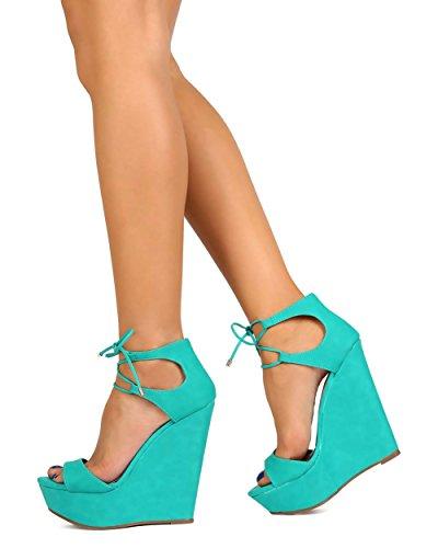 Breckelles Breckelles Ef52 Sandalo Con Zeppa In Similpelle Da Donna Con Zeppa - Sandalo