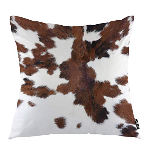 - oFloral Dirty Dot Throw Pillow Covers Animal Fur Grunge Hair Surface Rough Spots Decorative Square Pillow Case 18