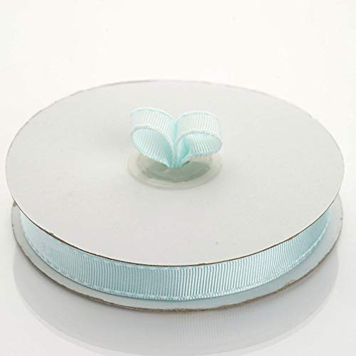 """Tableclothsfactory 5/8"""" Grosgrain Ribbon with Stitched Edges-Lt. Blue"""