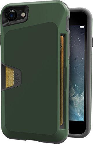 Price comparison product image Silk iPhone 7 Rugged Wallet Case - Vault Armor Wallet for iPhone 7 [Protective Non-Slip Grip Credit Card Cover] - Juniper Green