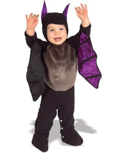 Baby Halloween Costumes On Sale (Rubie's Costume EZ-On Romper Costume, Lil' Bat, 6-12 Months)