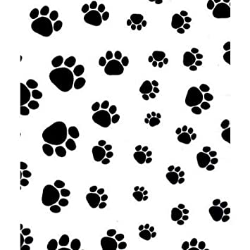 "Puppy Paw - 24 Sheets 20"" x 30 Print Tissue Paper Made in United States 