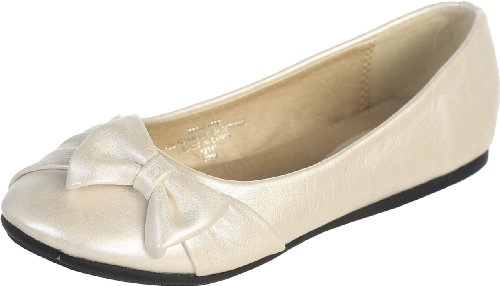 Flats with Bow (12, Ivory)]()