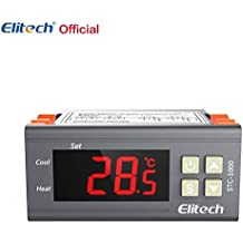 Origin Elitech STC-1000 110V Digital Temperature Controller Centigrade Thermostat w Sensor 2 Relays