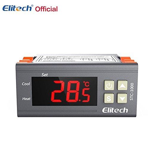 Elitech Origin STC-1000 110V Digital Temperature Controller Centigrade Thermostat w Sensor 2 Relays