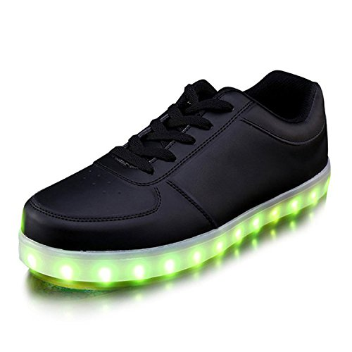 Dear-Queen Unisex USB Charging LED Shoes Flashing Sneakers Black