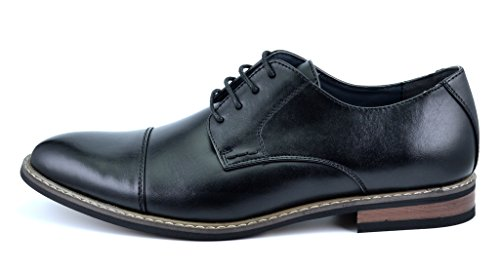 Bruno DREAM Wingtip black Prince PAIRS Moda Lace Marc Men's 6 Classic Prince Shoes Italy Dress Modern Oxford 55SvRU