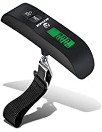Digital Luggage Scale w/LCD Backlight Portable Best for Travel (Black)