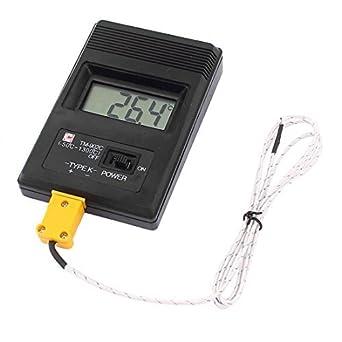 LCD Tipo K termómetro Digital Medida TM-902C W 2 DE la sonda de termopar