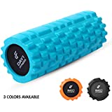 Foam Roller 13 INCHES Massage Roller - Available in 3 Colors - Great for Deep Tissue & Myofascial Muscle Massage, Recovery, Floor Exercises, Stretching, Physical Therapy, and Rehabilitation