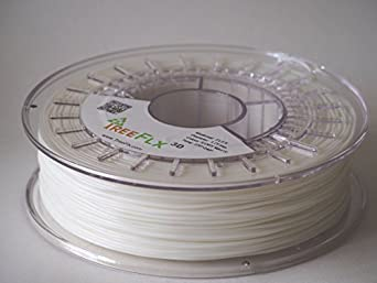 TreeFLX 3D TPU Premium European 3D Printer Filament, 750g Spool,-1.75mm- Ivory White Dimensional Accuracy +/- 0.03 mm