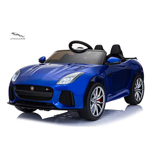 TAMCO Ride On Car, Jaguar F-Type SVR Convertible Electric Car, 2.4G Remote Control, MP3 Music Playing, Max Load 66LB (Blue)
