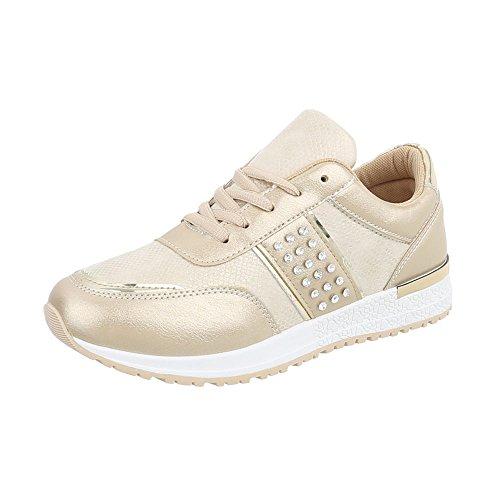 Sneaker Scarpe Donna Design Low P Sneakers Piatto Ital da 18 Oro qIwFUf4
