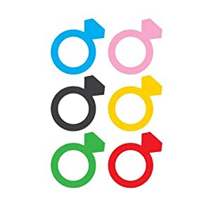 Kikkerland Ring Silicone Drink Markers, Set of 6